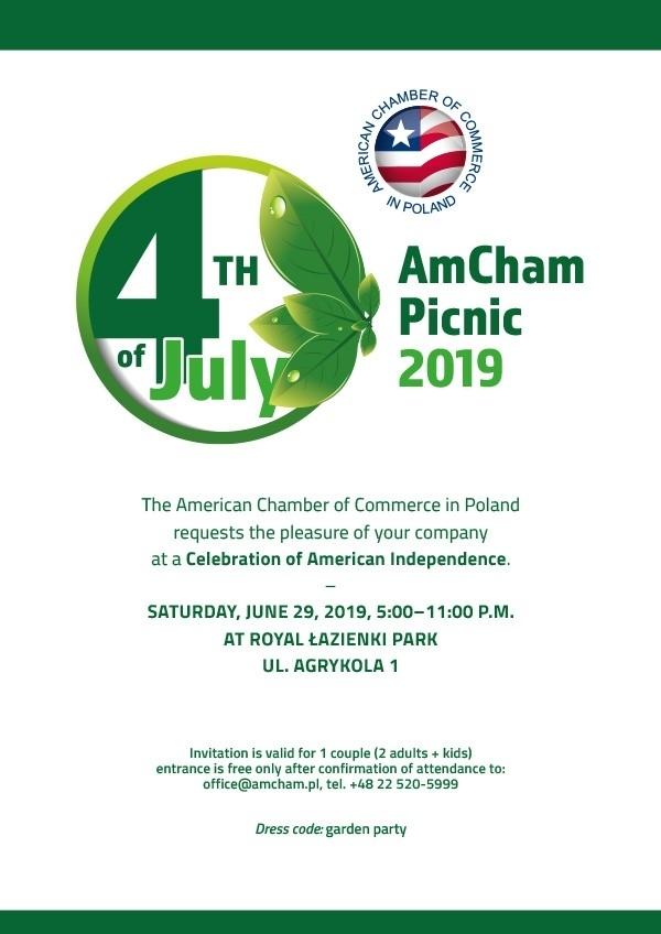Invitation ⇽ AmCham 4th of July Picnic   American Chamber